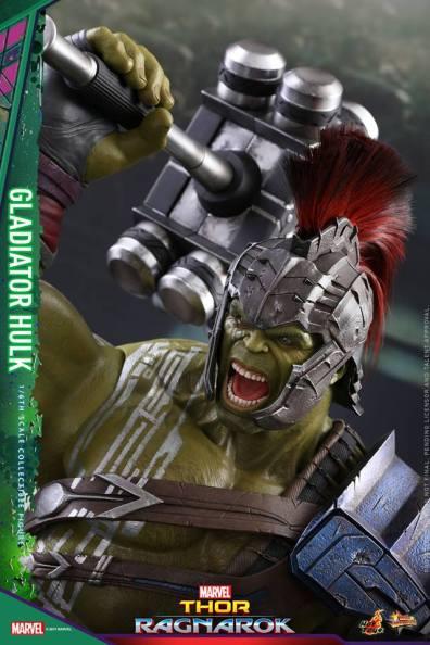 Hot Toys Thor Ragnarok Gladiator Hulk figure -head close up