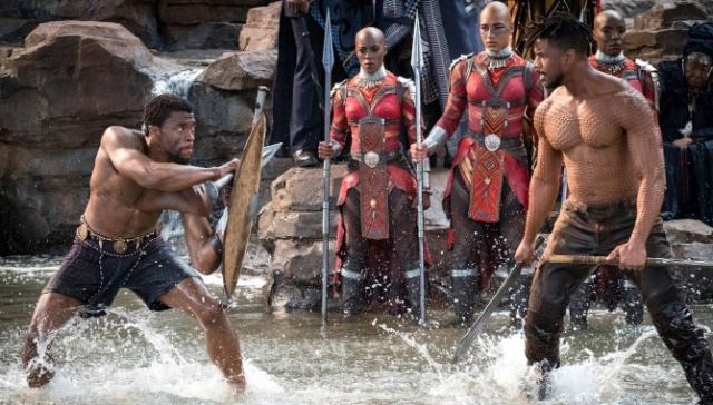Marvel-Black-Panther-movie-pictures-TChalla-and-Killmonger