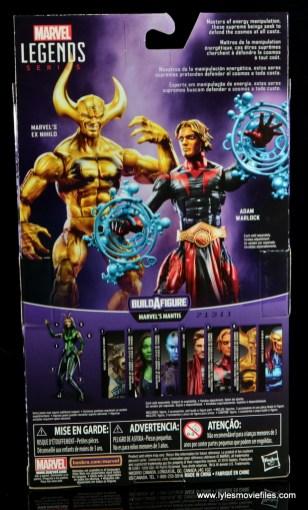 Marvel Legends Adam Warlock figure review - package rear