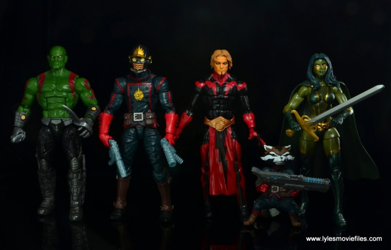 Marvel-Legends-Adam-Warlock-figure-review-scale-with-Drax-Star-Lord-Rocket-and-Gamora