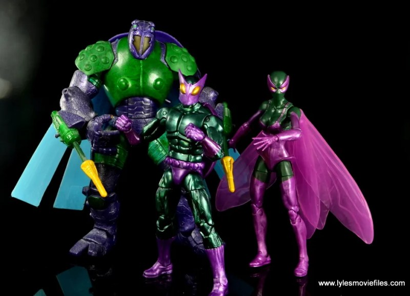 Marvel Legends Beetle figure review - Beetle with fellow Beetles.JPG