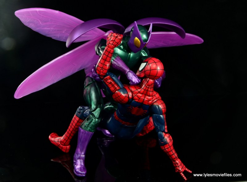 Marvel Legends Beetle figure review -choking out Spider-Man
