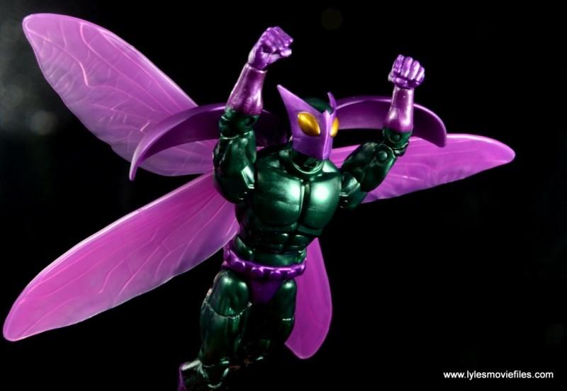Marvel Legends Beetle figure review -flying off