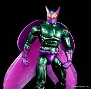 Marvel Legends Beetle figure review - looking down