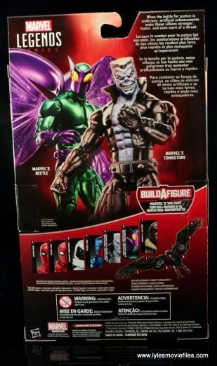 Marvel Legends Beetle figure review -package rear