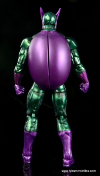 Marvel Legends Beetle figure review -rear with shell