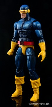 Marvel Legends Cyclops and Dark Phoenix figure review -Cyclops left side