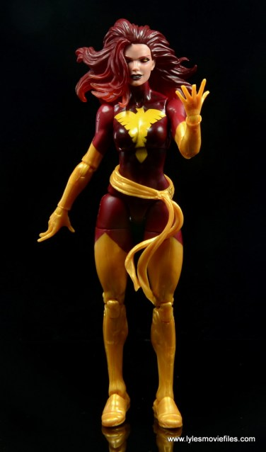 Marvel Legends Cyclops and Dark Phoenix figure review -Dark Phoenix powering up
