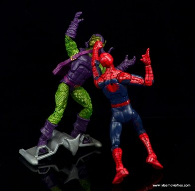 Marvel Legends Green Goblin figure review -getting knocked out by Spider-Man