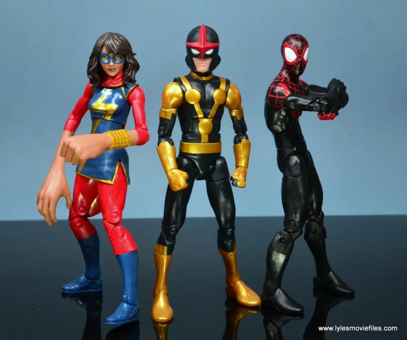 Marvel Legends Kid Nova figure review - hanging with Ms. Marvel and Spider-Man