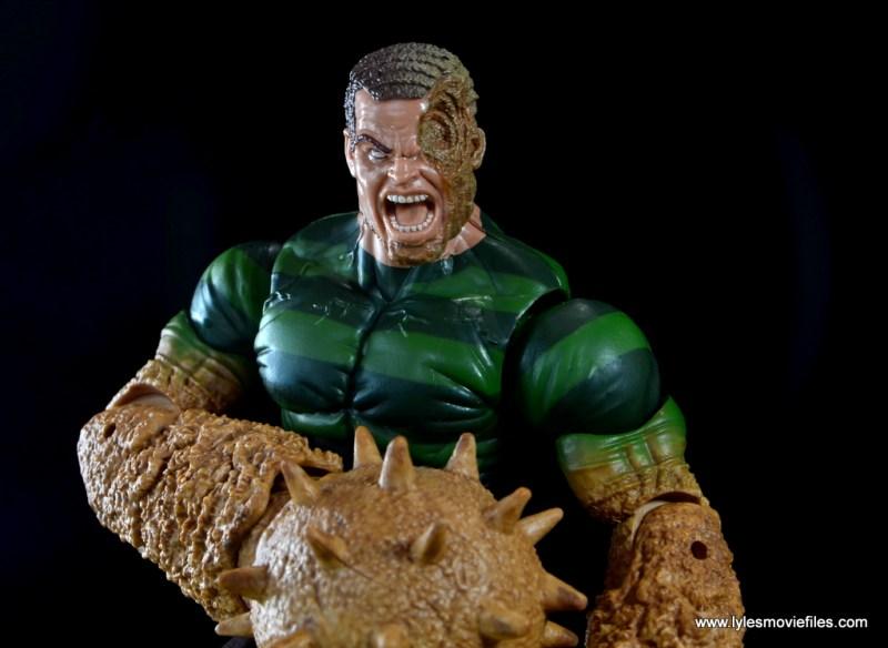 Marvel Legends Sandman figure review -wide damaged face