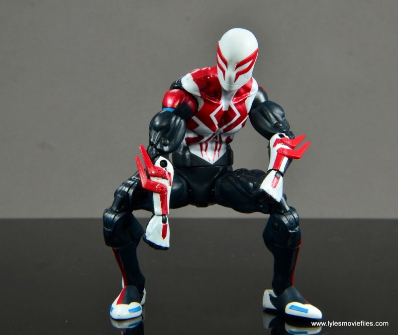 Marvel Legends Spider-Man 2099 figure review - crouching