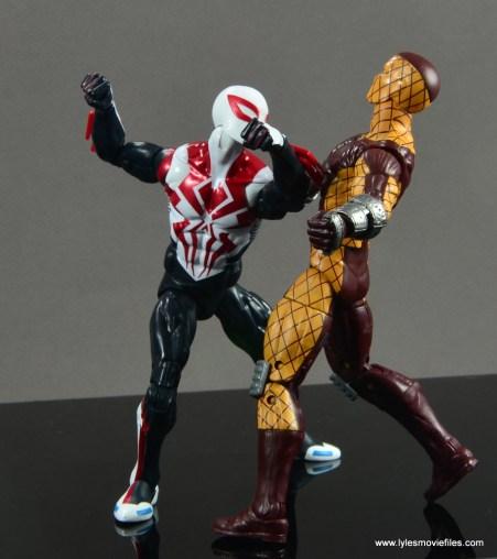 Marvel Legends Spider-Man 2099 figure review - punching Shocker
