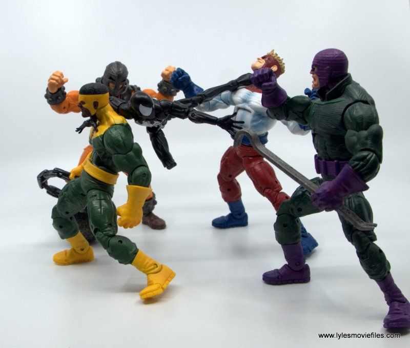 Marvel Legends Symbiote Spider-Man figure review - vs The Wrecking Crew