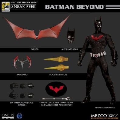 Mezco Toyz SDCC 2017 Preview Night One 12 Batman Beyond accessories