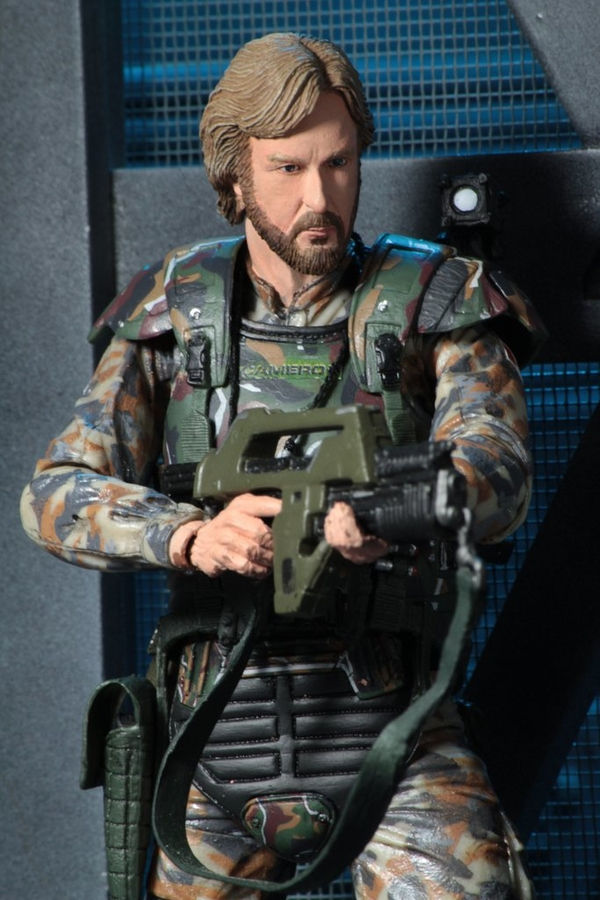 NECA Aliens James Cameron figure - close up