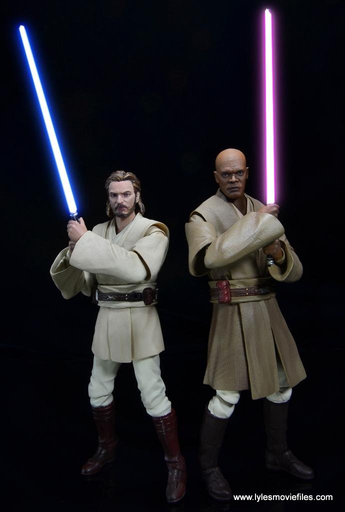 SHFiguarts Star Wars Obi-Wan Kenobi figure review -back to back with Mace Windu saber