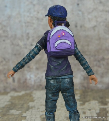 The Walking Dead Telltale Games Clementine figure review - backpack on