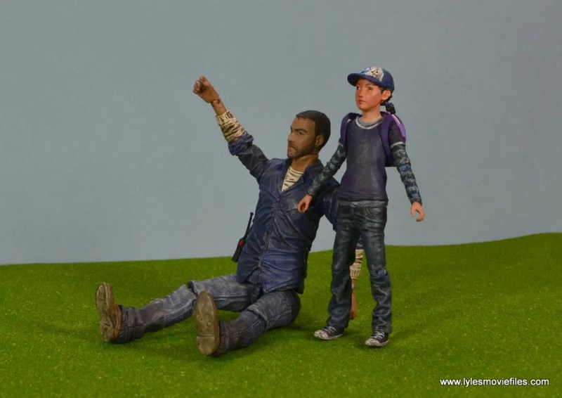 The Walking Dead Telltale Games Clementine figure review - hanging with Lee