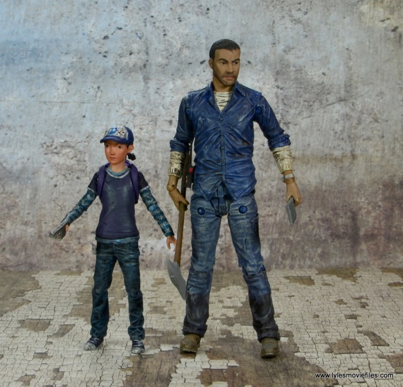 The Walking Dead Telltale Games Clementine figure review - side by side with Lee