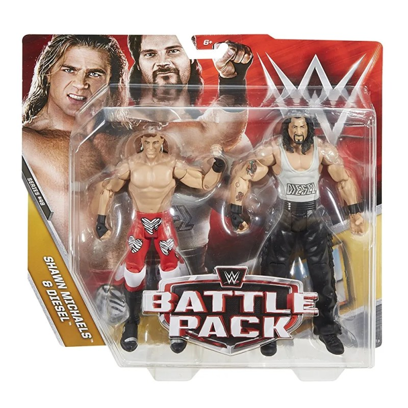 WWE Battle Pack 48 Shawn Michaels and Diesel Dudes With Attitudes