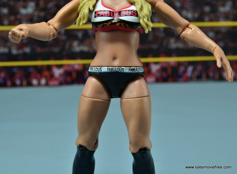 WWE Carmella figure review - outfit detail