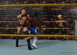 WWE Elite Big Cass and Enzo figure review -Big Cass knocks over Kofi Kingston