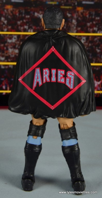WWE NXT TakeOver Austin Aries figure review -rear with cape
