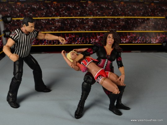 WWE Nia Jax figure review - backbreaker to Alexa Bliss