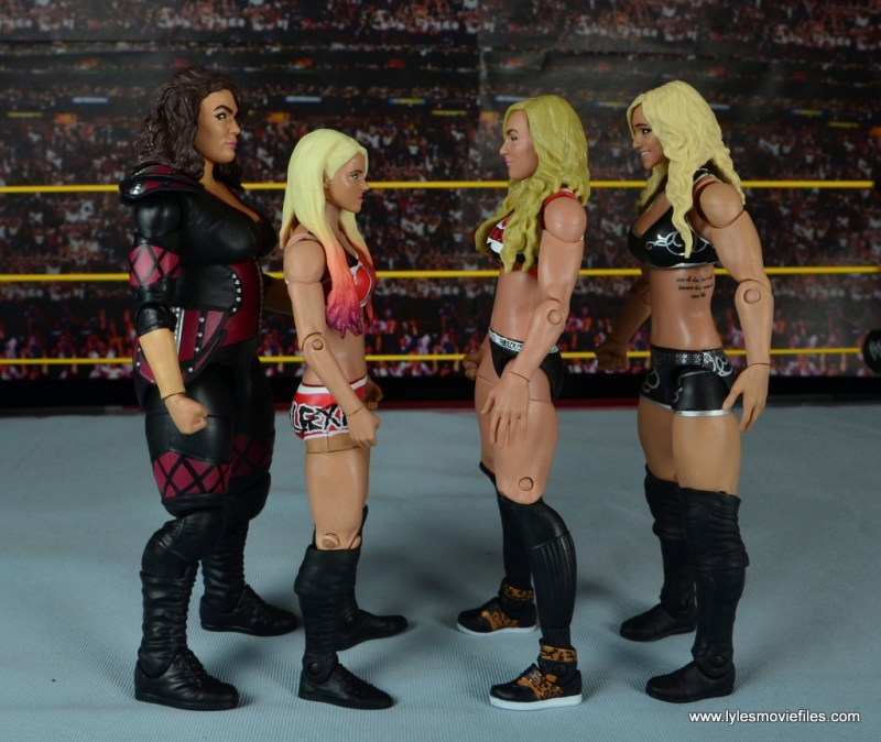 WWE Nia Jax figure review - scale with Alexa Bliss, Carmella and Charlotte Flair
