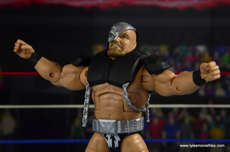 WWE The Warlord figure review -arms up
