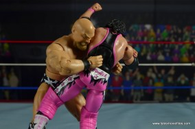 WWE The Warlord figure review -bear hug to Bret Hart