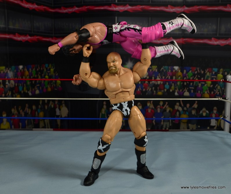 WWE The Warlord figure review -press slam to Bret Hart