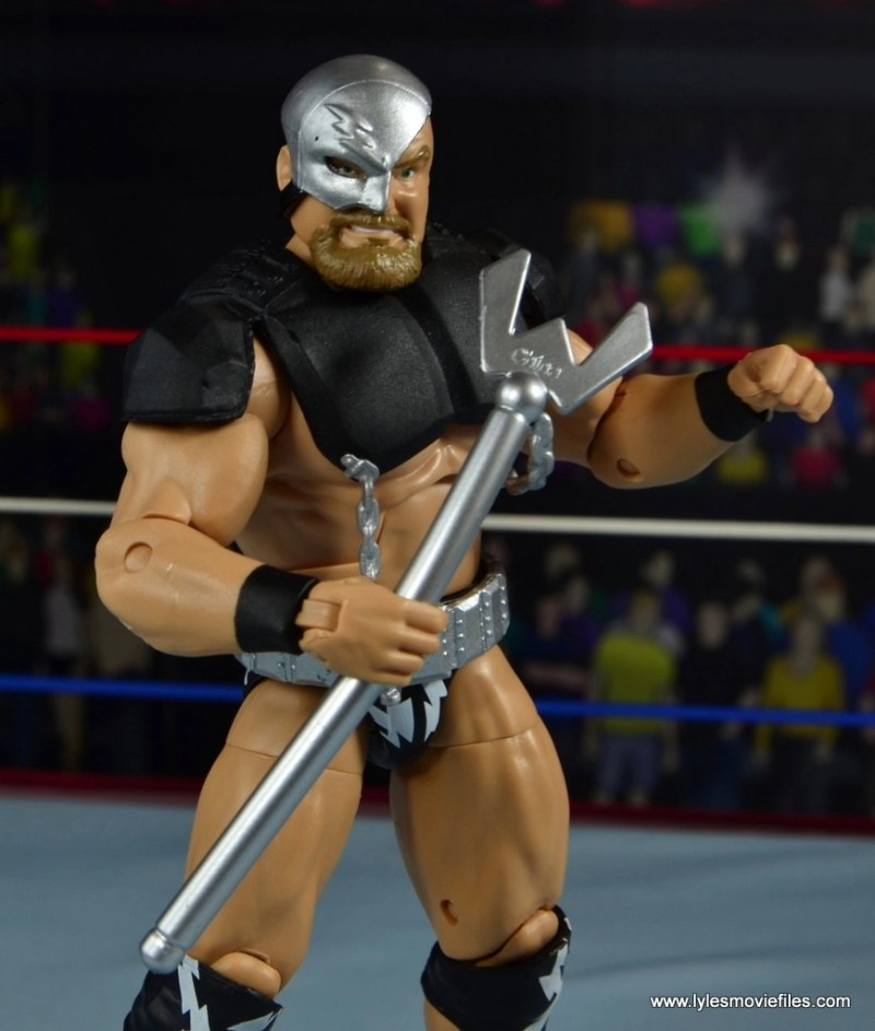 WWE The Warlord figure review -ring gear on