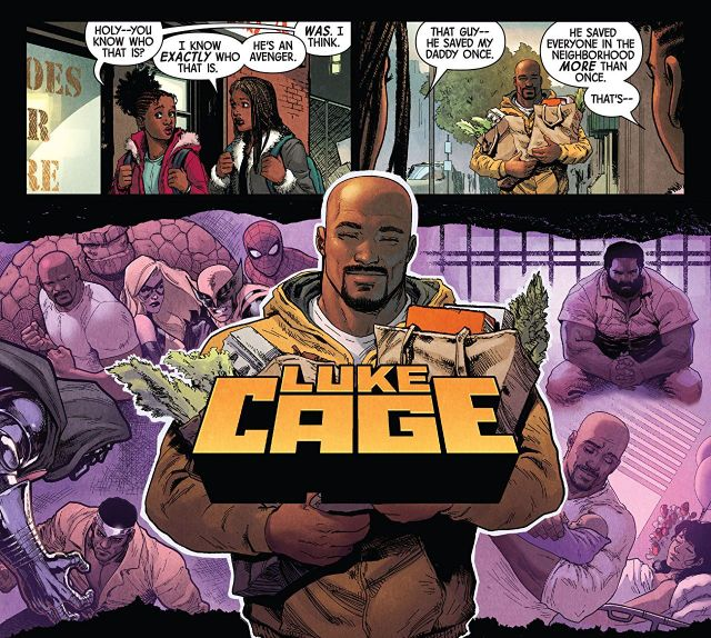 Defenders #1 Luke Cage feature