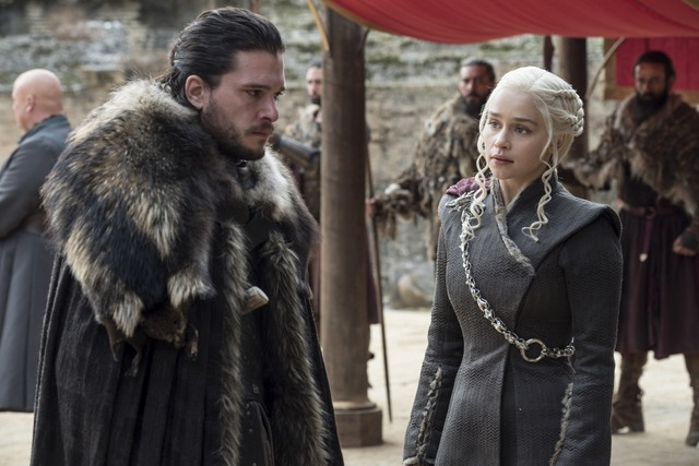 Game of Thrones - The Dragon and the Wolf review - Jon and Daenerys