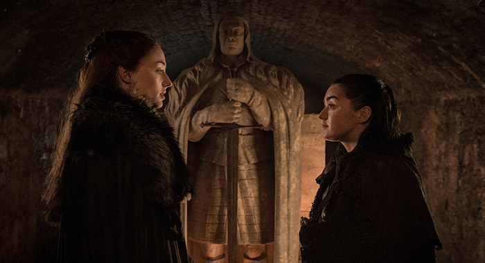 Game of Thrones The Spoils of War review - Sansa and Arya