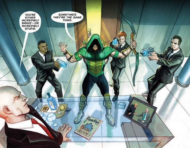 Green Arrow #28 interior art