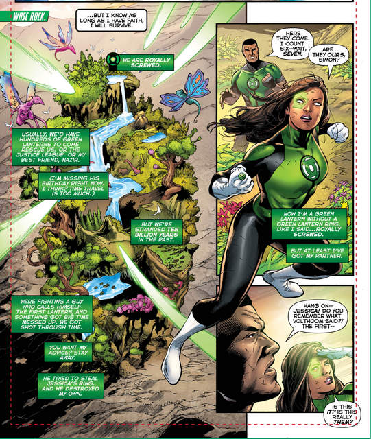 Green Lanterns #28 interior art