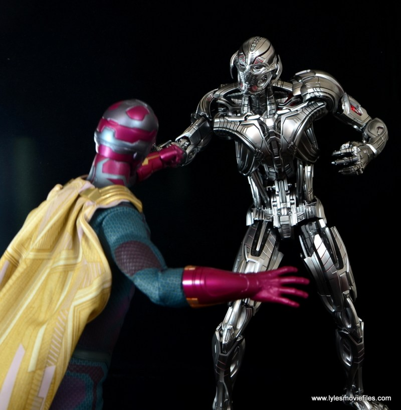 Hot Toys Avengers Ultron Prime figure review - vs Vision