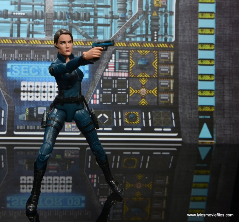 Marvel Legends Avengers Initative figure review -Maria Hill aiming