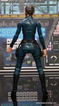 Marvel Legends Avengers Initative figure review -Maria Hill rear