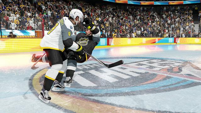 NHL Threes action