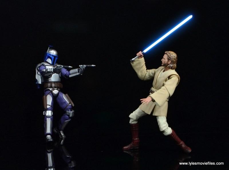 SH Figuarts Jango Fett figure review - bounty hunter vs Jedi Obi-Wan Kenobi