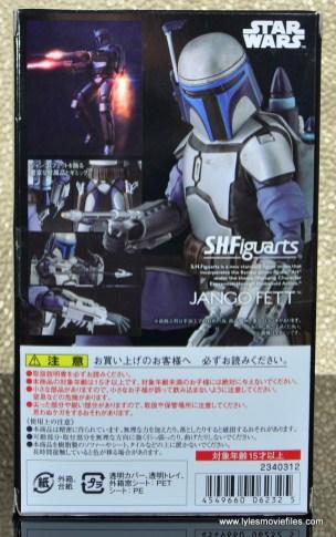 SH Figuarts Jango Fett figure review - package rear