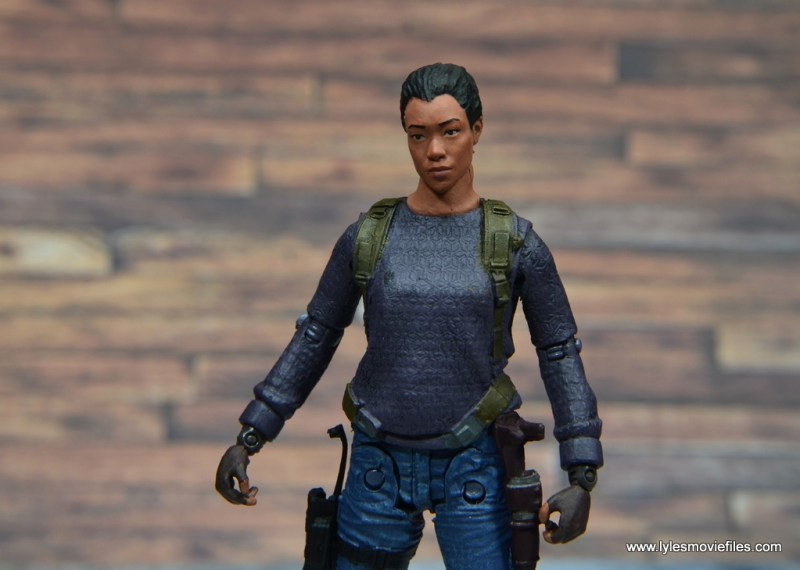 The Walking Dead Sasha figure review -head tilt