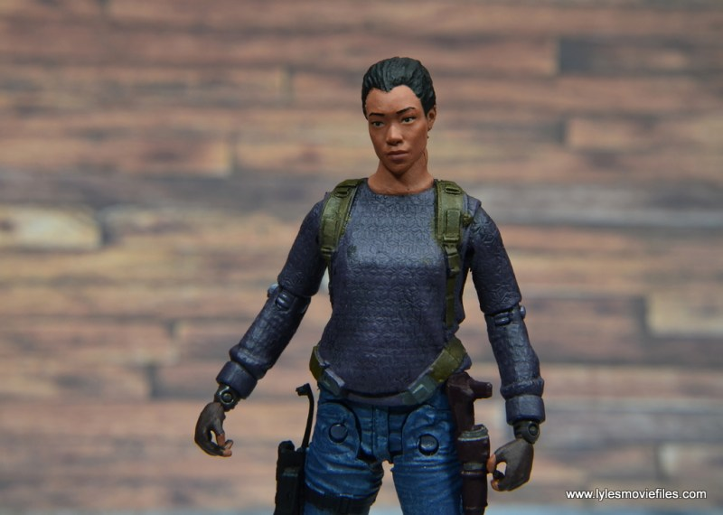 The Walking Dead Sasha figure review -head tilt