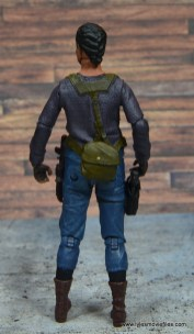 The Walking Dead Sasha figure review -rear with pouch
