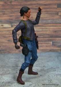 The Walking Dead Sasha figure review -right side with gun holstered