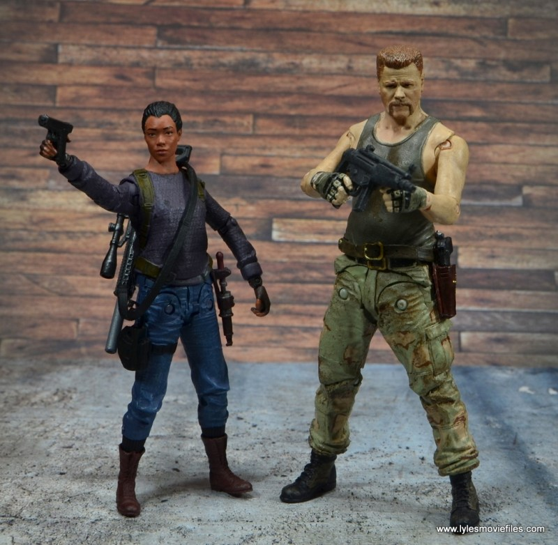 The Walking Dead Sasha figure review - with Abraham